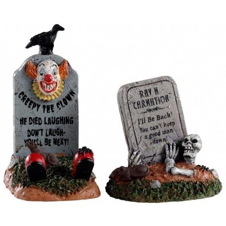 Pierres tombales amusantes lot de 2 Halloween Lemax