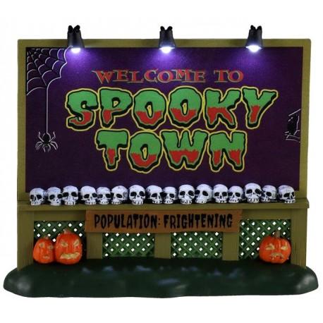 Panneau d'entrée Spooky Town Lemax Halloween