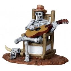 Squelette guitariste Lemax Halloween
