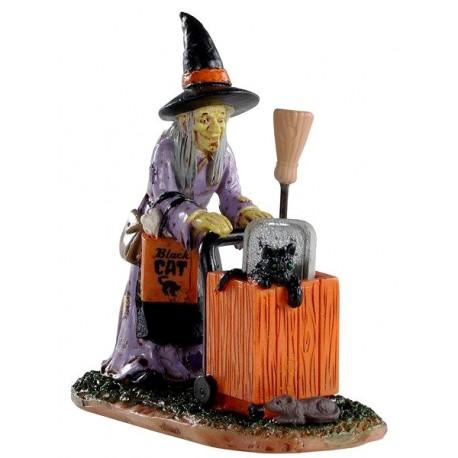 Sorcière qui fait ses courses Lemax Halloween