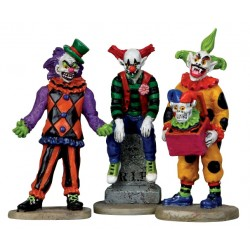 Clowns effrayants lot de 3 Lemax Halloween