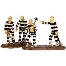 Prisonniers zombies lot de 2 Lemax Halloween