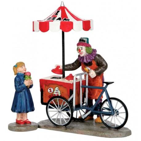 Clown vendeur de glaces lot de 2 Lemax Halloween