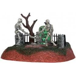 Scène animée et lumineuse Squelettes et tombes Lemax Halloween