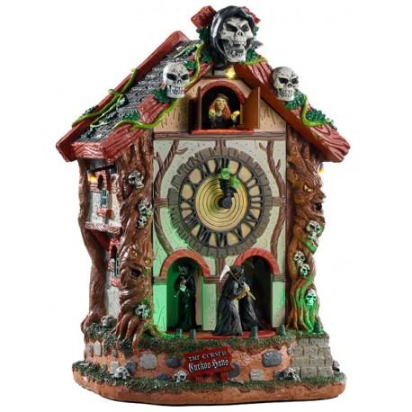 Horloge hantée animée lumineuse sonore Lemax Halloween