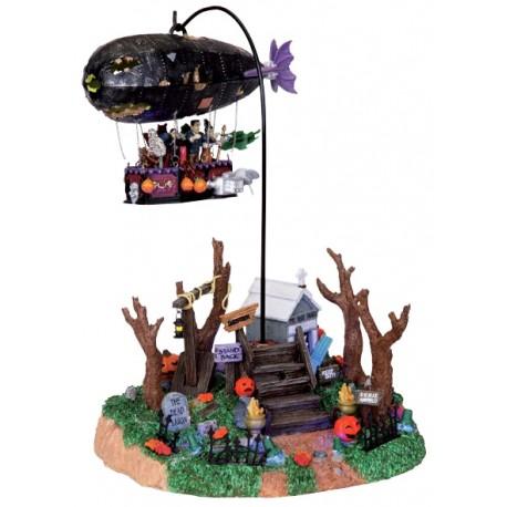 Scène animée et lumineuse Zeppelin Lemax Halloween