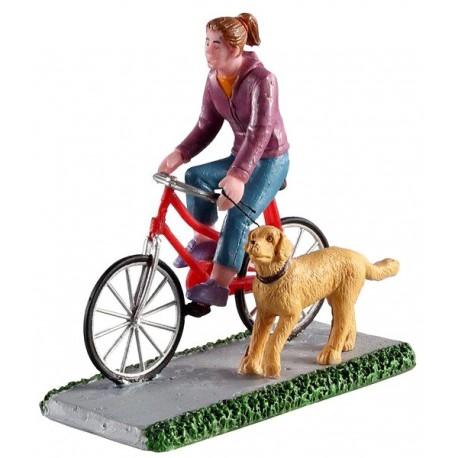 Promenade à vélo avec chien Lemax