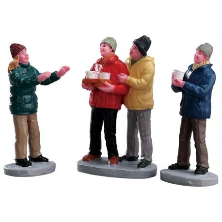 Distribution de cidre entre amis Lot de 3 Lemax