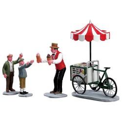 Vendeur de glaces et enfants Lot de 4 Lemax