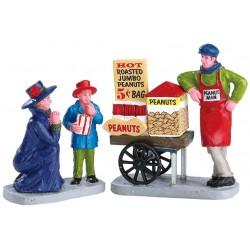 Vendeur de cacahuètes Mère et son fils Lot de 2 Lemax