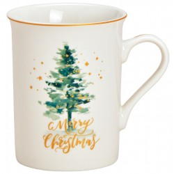 Tasse Noël Sapin Merry Christmas porcelaine 25 cl