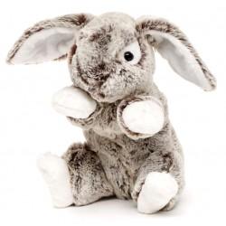 Peluche lapin gris 23 cm