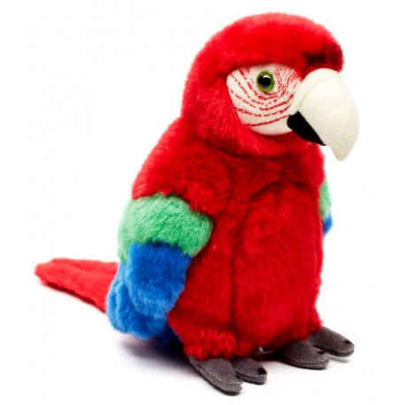 Peluche perroquet rouge 26 cm