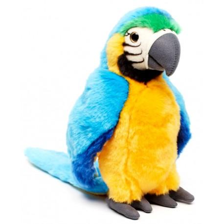 Peluche perroquet jaune bleu 26 cm