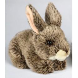 Peluche lapin gris 18 cm