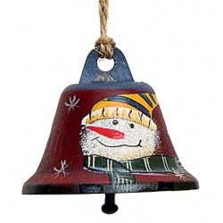 Suspension sapin cloche rouge bonhomme de neige