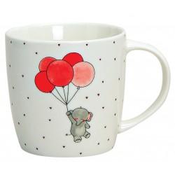 Tasse éléphant ballons porcelaine 30 cl