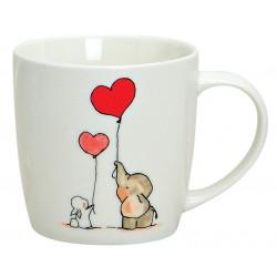 Tasse éléphant lapin coeur porcelaine 30 cl