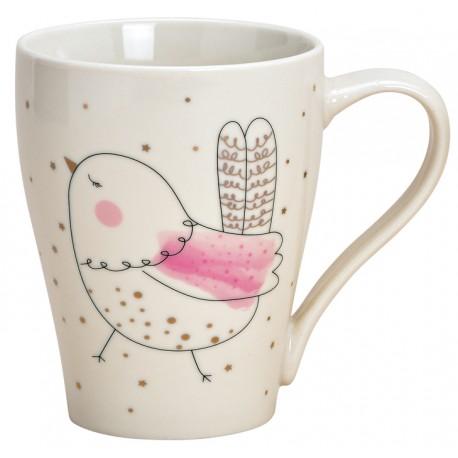 Tasse oiseau porcelaine 37 cl