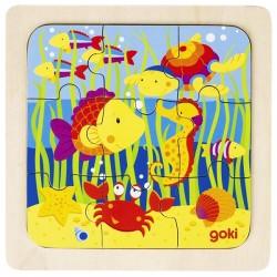 Puzzle enfant en bois océan 9 pièces