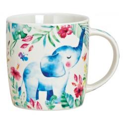 Tasse éléphant porcelaine 27 cl
