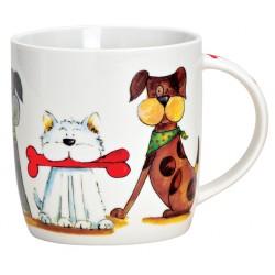 Tasse chiens porcelaine 30 cl