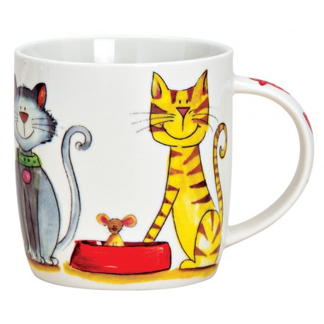 Tasse chats porcelaine 30 cl