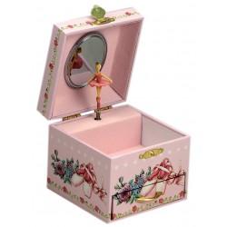 Boîte à bijoux musicale rose danseuse 11 cm