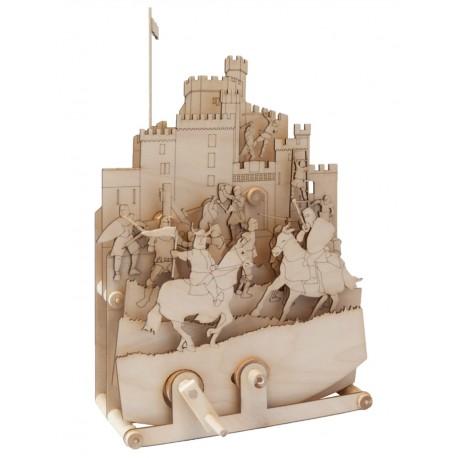 Maquette en bois animée Moyen Age