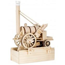 Maquette en bois animée Locomotive à vapeur