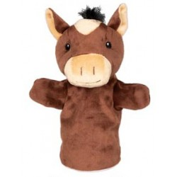Marionnette à main en tissu cheval 28 cm