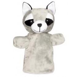 Marionnette à main en tissu raton-laveur 28 cm