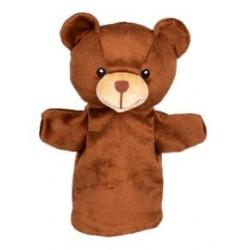 Marionnette à main en tissu ours 28 cm