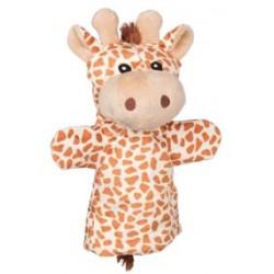 Marionnette à main en tissu girafe 25 cm