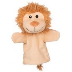 Marionnette à main en tissu lion 25 cm