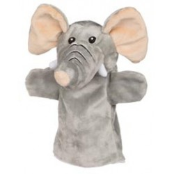 Marionnette à main en tissu éléphant 25 cm