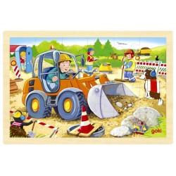 Puzzle enfant en bois chantier 24 pièces
