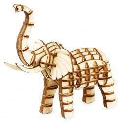 Maquette en bois Eléphant