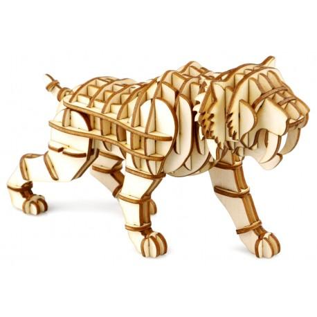 Maquette en bois tigre préhistorique