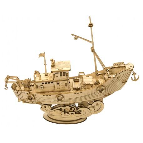 Maquette en bois Bateau de pêche