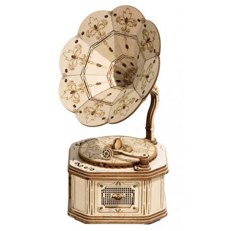Maquette en bois Gramophone - La Magie des Automates