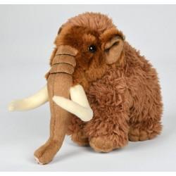 Peluche mammouth marron 18 cm