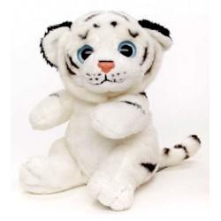 Peluche tigre blanc 18 cm