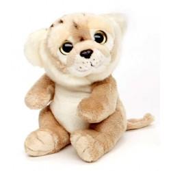 Peluche lionne beige 18 cm