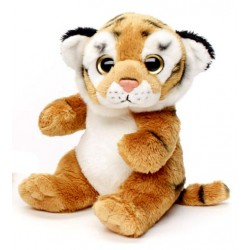 Peluche tigre brun 18 cm