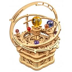 Maquette en bois Système solaire coloré animé musical