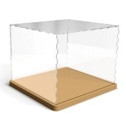Boîte transparente de présentation anti-poussière Grand format