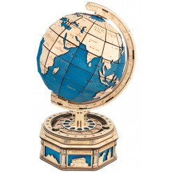 Maquette en bois globe terrestre coloré