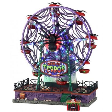 Grande Roue animée lumineuse sonore Lemax Halloween