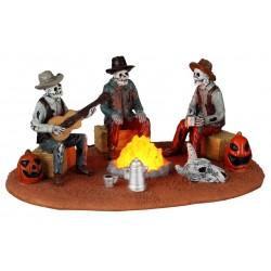 Scène lumineuse Squelettes autour du feu Lemax Halloween